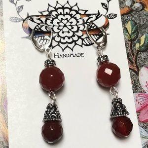Casey Keith Design Jewelry - Carnelian Danglers